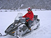Keith on a snowmobile