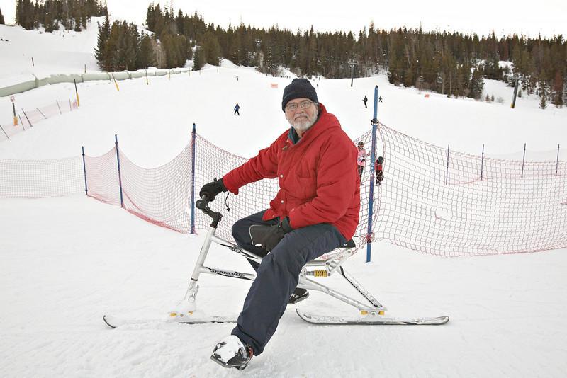 Keith on a skibike (K2)