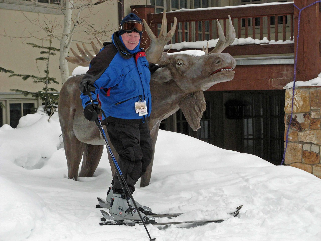 20 Bruce meets a moose at Deer Valley
