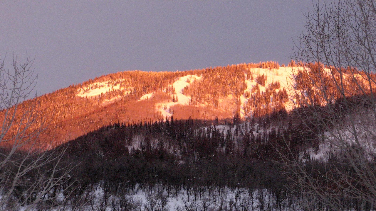 192 Sun setting on Mount Werner
