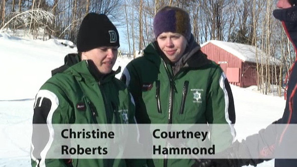 The two dominant Dartmouth Women skiers talk about their runs on Saturday's Slalom.