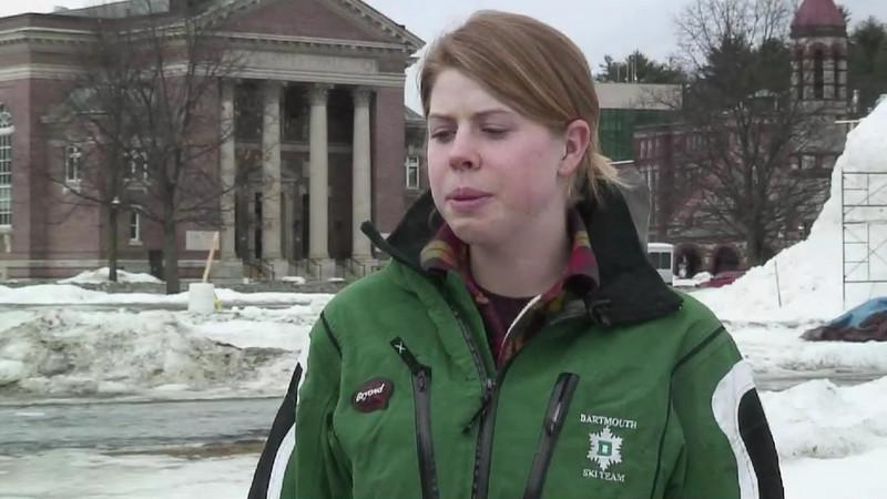Video Profile: Dartmouth Skier Courtney Hammond