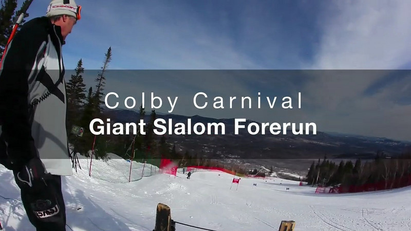 Colby Carnival: Forerun on Sunday GS Course