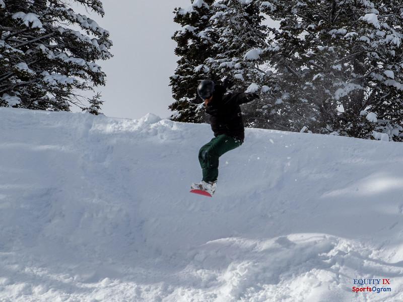 Snow Boarding in Powder