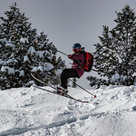 Skiing in Powder
