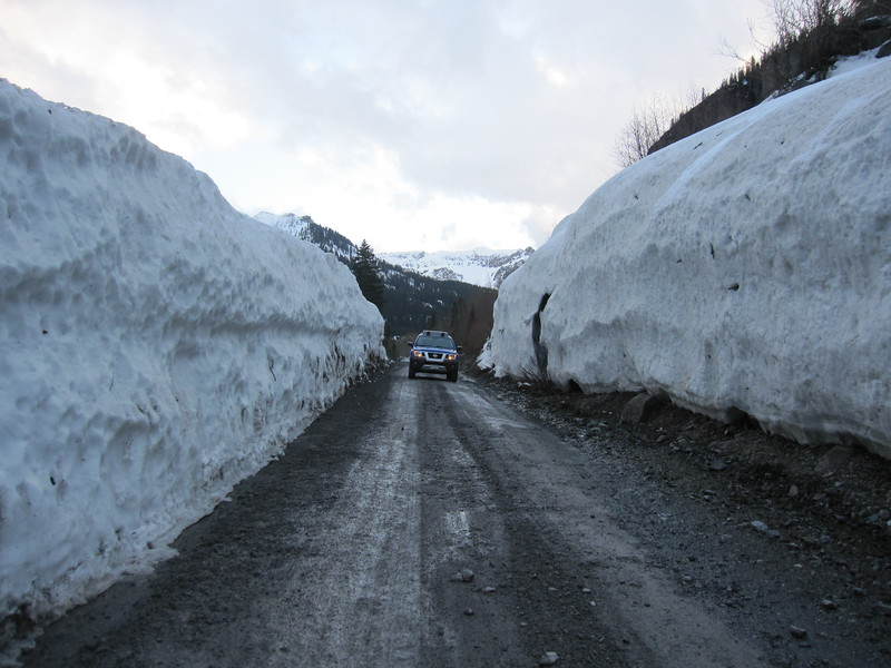 Camp Bird Road.  This area gets an avalanche every year.  Mining interests plow it out.