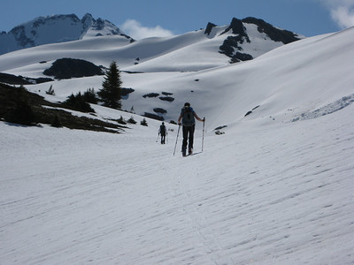 Ski touring around goggling at the views.