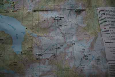A little more of the Green Trails map. Some of these peaks are in the scenery in  the pictures.