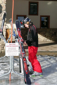 Still don't know why it took over 5 minutes for Pat to lock his skis.  Imagine him at his school locker
