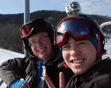 Cruising with the Cousins at Holiday Valley, New York - Tuesday January 31, 2012
