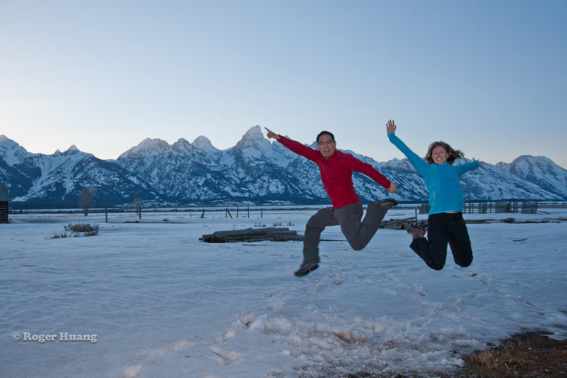 Look! Grand Teton!! Jumping on the jump shot bandwagon.