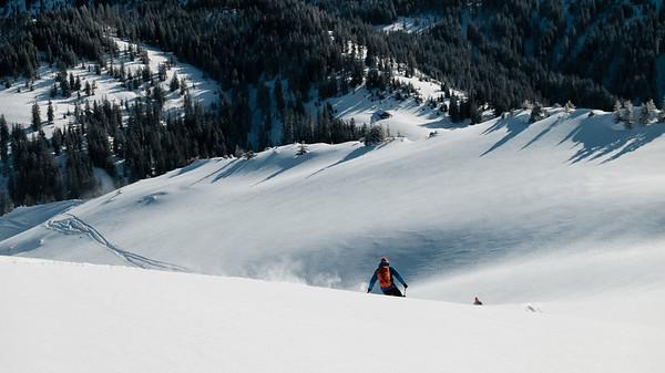 We like to ski pow!