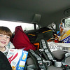 This is the car going down crammed with our stuff.