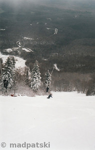 Picture by MadPat: October 25, 2006 : Lucky skiing down Haynes.