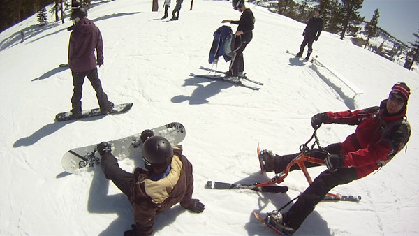 March skibiking and skiing videos at Sierra and Heavenly ski resorts