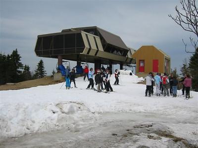 Photo par Éric B. 1 mai 2004: Mont ste-Anne - sommet versant nord
