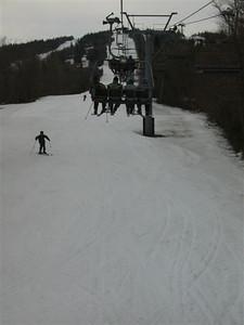 Photo par Éric B. 1 mai 2004: Mont Ste-Anne - versant nord