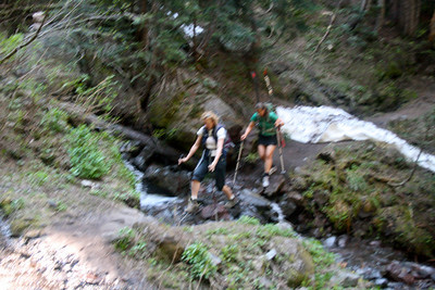 Marija and Martina, creek crossing.