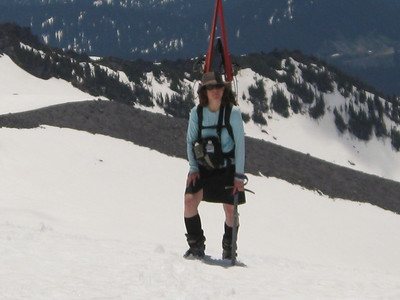 I like the skirt skiing, but I got a sunburn-(