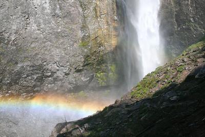 Comet Falls rainbow.