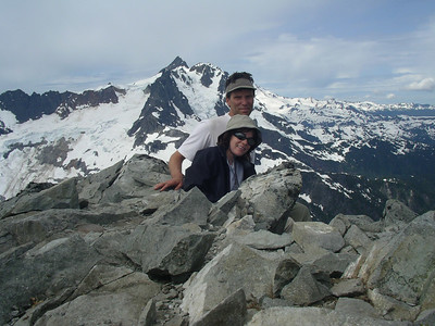 At the summit, Shuksan and the Nooksack cirque, Mt. Shuksan, behind.