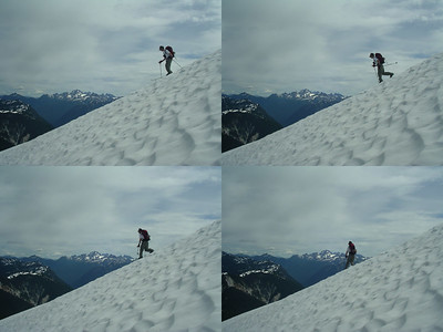Scott skiing the North Cascades in July.