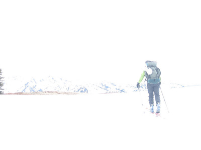 Sort of like this picture of me heading into the vast white space.