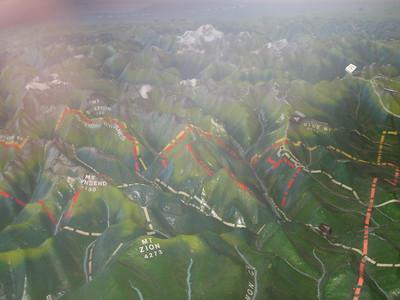 Map in Hurricane Ridge Visitor Center.