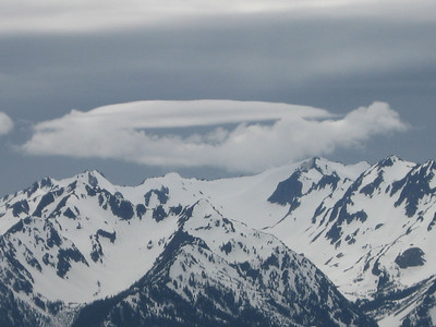 Clouds over Mt. Olympus.