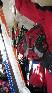 Afterschool clinic, bunch of skinny skiers packed the shuttle from Hyak to Silver Fir.