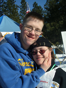 Holly and her boyfriend, who also competed at State Games in basketball.