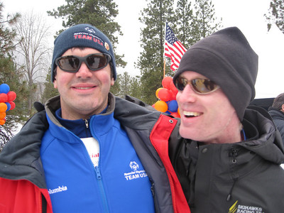 Kevin and Tim, frequent competitors.  Kevin won the 10K, and Tim won the 5K.