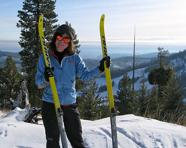 Me and my new skis!