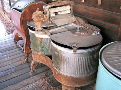 Old washing machines.