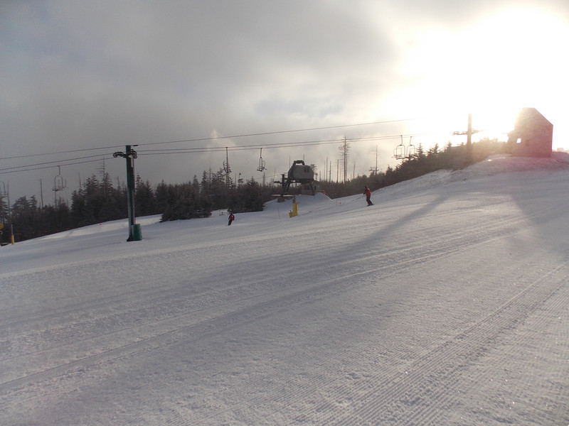 First views of the slopes on Wednesday morning.