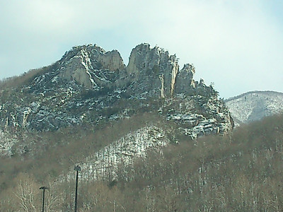 Seneca Rocks - about an hour north of Snowshoe.