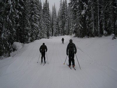 Heading out to ski what we can ski.