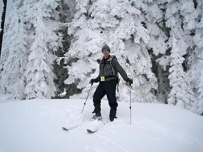 Scott and plastered snow trees.