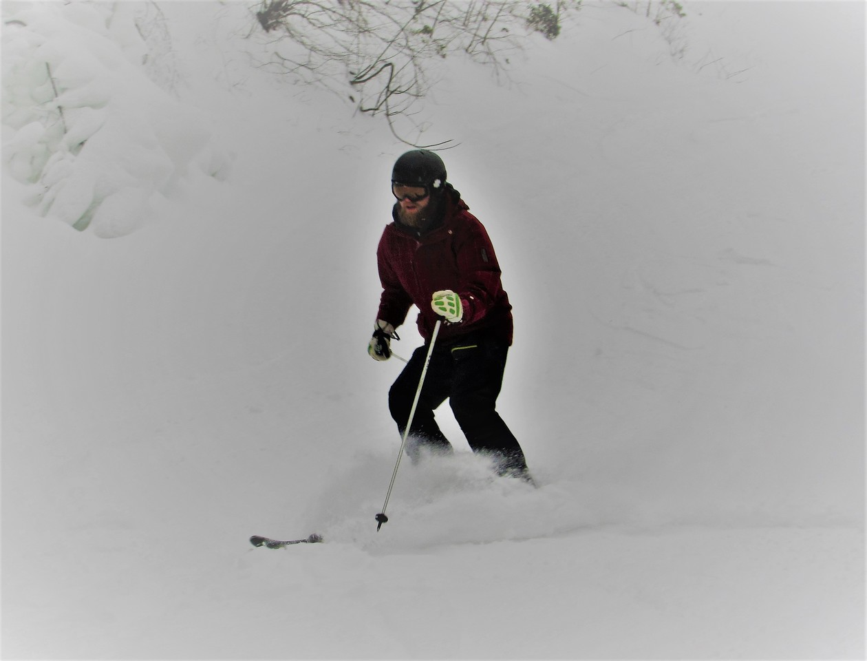 You got to love powder. Todd sure does.