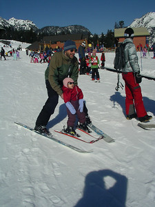 Dad and Corri skiing!