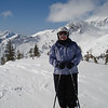Gail at the top of Mineral Basin