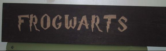 Frogwarts sign for the Frog house.