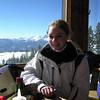 Casey in the lodge for a break.