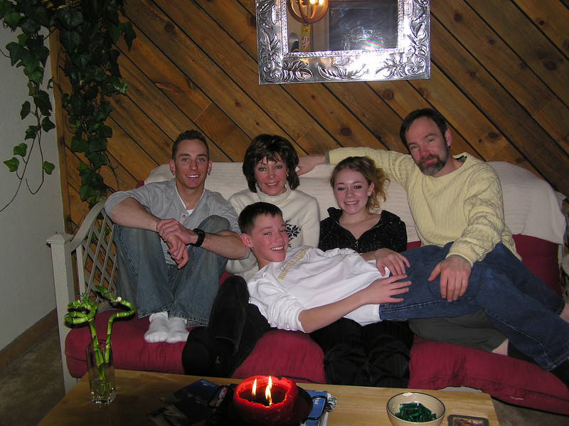 The family with Curt in his Beaver Creek apt.