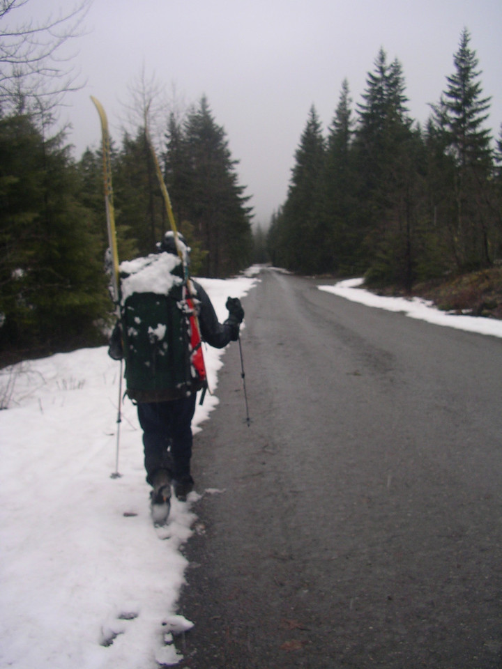 Scott's pack was heavy with snow too!