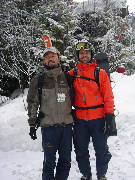 Chewy and Jeff getting ready for some pow.