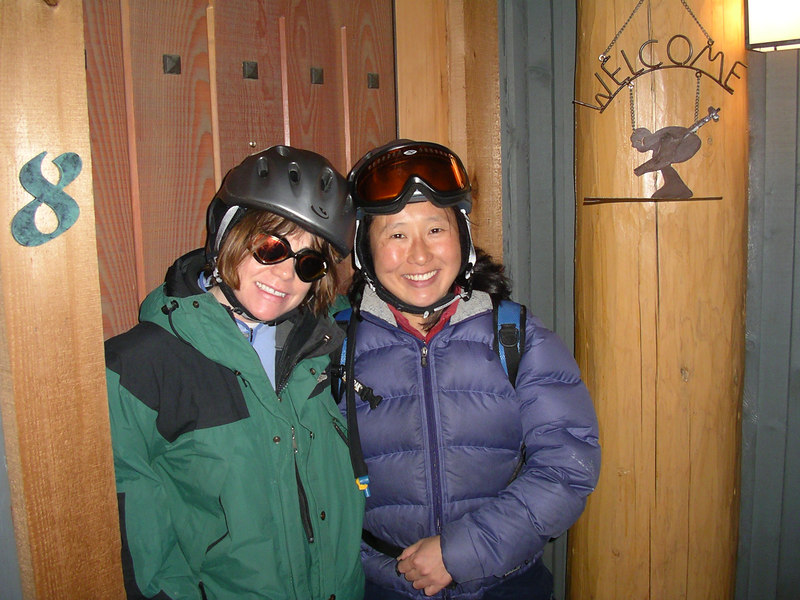 Me and Kim again. We actually went out for a ski together, just the two of us. Kim's first time away from Corri!!!!