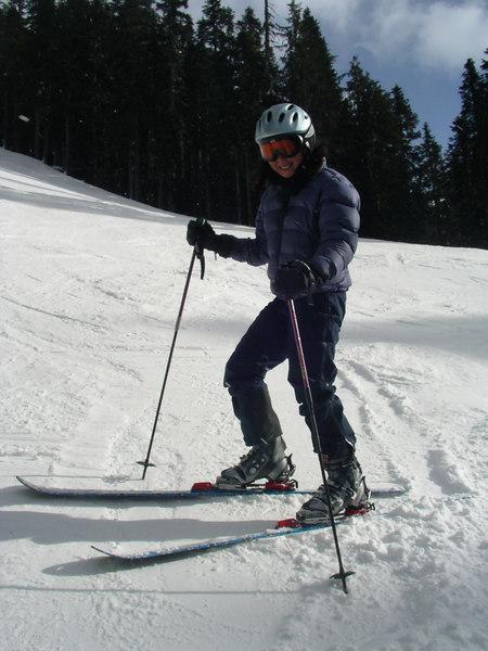 Superstar skier Kim.
