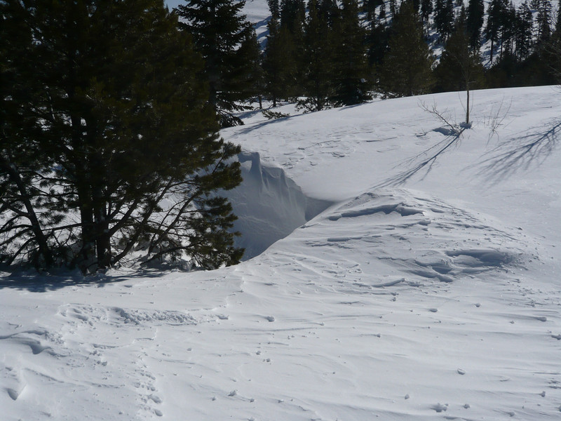 03/28/2011 - A snow drift hole behind the Grizzly Den