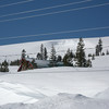 3/28/2011 - The cornice on the ridge across the street had broken loose causing a small avalanche (see rough looking snow).